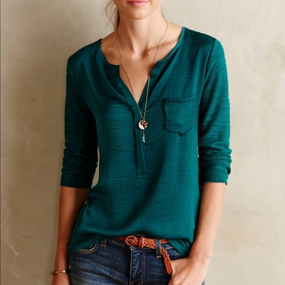 fa504740b8b84 Anthropologie Tops - Anthropologie Knitted   Knotted Verso Henley shirt